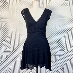 Betsey Johnson Vintage Black Swiss Dot Mini Dress